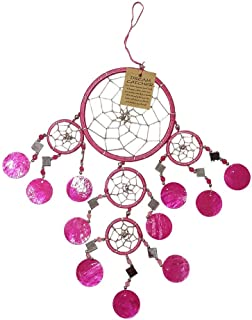 VIE Naturals Capiz Dream Catcher, 12cm, Pink