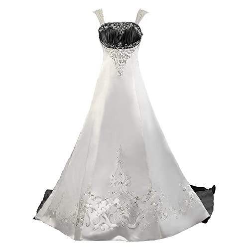 Black And White Wedding Dresses For Bride Amazon Com