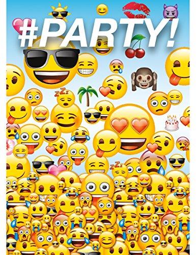 8 Cartes d'invitation Emoji - taille - Taille Unique - 236610