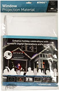 AtmosFX Window Projection Material, 6 Foot by 4 Foot Fabric Screen for Holiday Decorating on Halloween, Christmas, Birthdays, and More