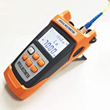 D YEDEMC Fiber Optic Cable Tester Portable Optical Power Meter FC/SC/ST universal interface Fiber Tester Built-in 10Mw Visual Fault Locator (OPM&VFL)