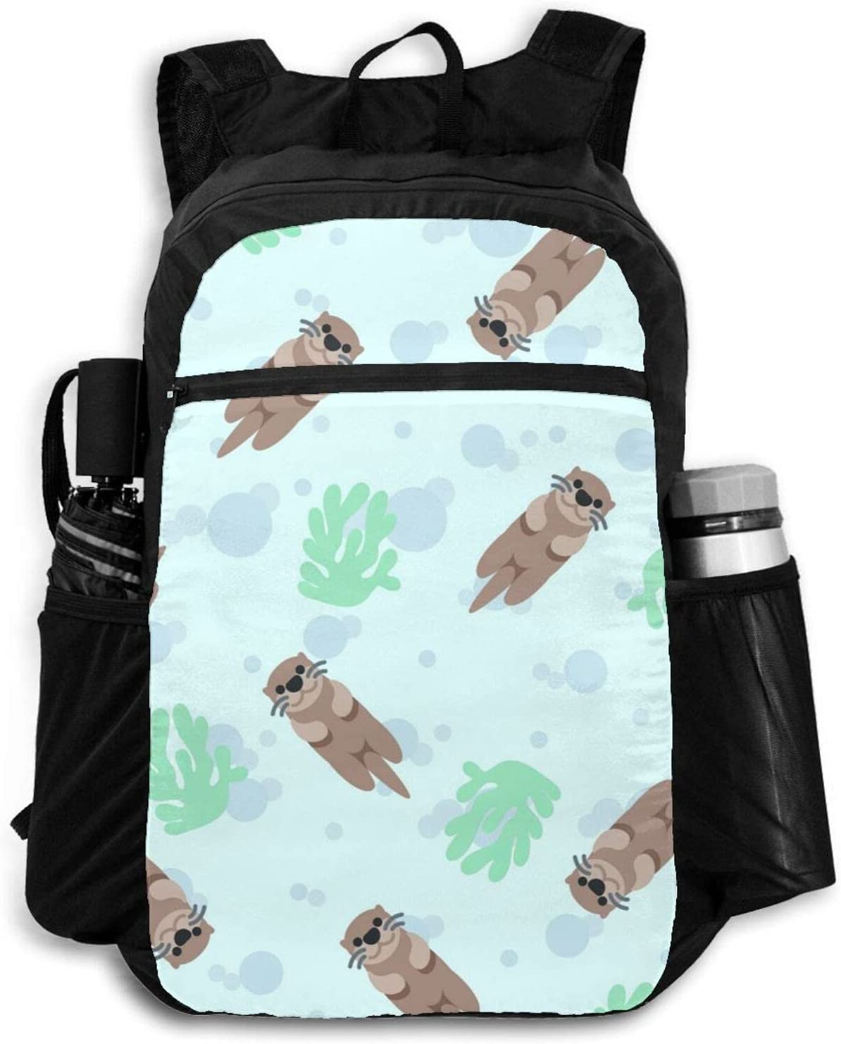 Zolama Cute Sea Otter with Backpacks for Popular products Men Ranking TOP20 Bubbles Women