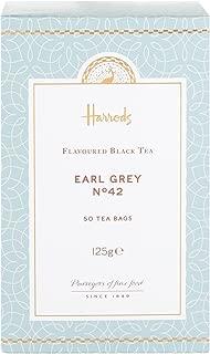 Harrods London. No. 42 Earl Grey, 50 Tea Bags 125g (1 Pack) NEW RANGE Seller Product Id HEG2 - USA Stock