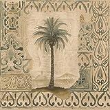 Palm Trees in Vintage Frames Damask Pattern...