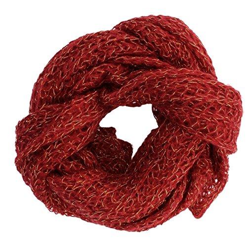 Gio Tetelli Mooie gebreide sjaal met glittereffect, heren en dames, uniseks, 30 x 200 cm
