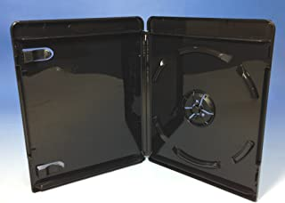 ブルーレイケース 1枚収納 100個 / スーパーブラック/ロゴ有 (Blu-rayケース/BDケース)
