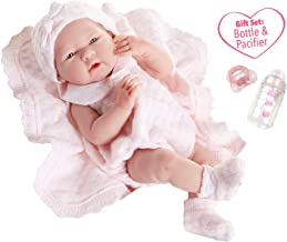 "JC Toys La Newborn All-Vinyl-Anatomically Correct Real Girl 15"" Baby Doll in Pink.."