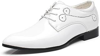 Dadawen - Zapatos de ciudad con cordones para hombre, acabado brillante, estilo Brogues