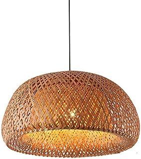 CSSYKV Lámpara de bambú de bambú de bambú japonés lámpara de bambú de Mimbre Lámpara de Techo Lámpara de Techo Lámpara de Techo Colgante `` Lámpara Tejida de Mimbre de Mimbre de Mimbre