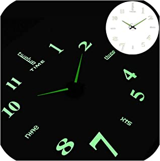 Wall Clocks Large Clock Watch Horloge Acrylic Mirror Stickers Quartz Duvar Saat Klock Modern Mute,Wall Clock 7,27 Inch