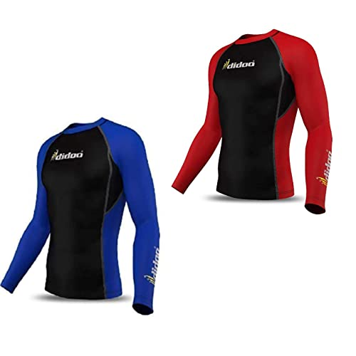 78716adc7d1 Didoo Mens Compression Full Sleeve Thermal Base Layer Top Running Tight Fit  Training Fitness Body Armour