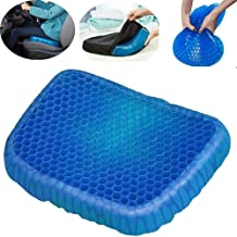 Shadow Securitronics Cushion Seat Flex Pillow, Gel Orthopedic Seat Cushion Pad for Car, Office Chair, Wheelchair, or Home. Pressure Sore Relief. Ultimate Gel Comfort