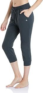 TSLA Women's Yoga Loungewear Capri Tapered Comfy Soft Peachskin Running Casual Yoga Active with Pockets
