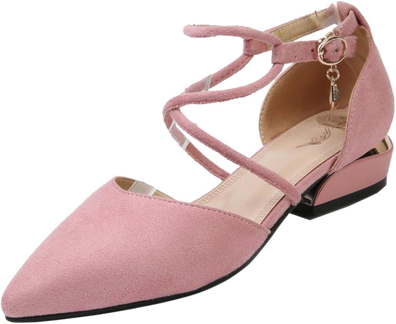 TAOFFEN Women Cross Strap Sandals