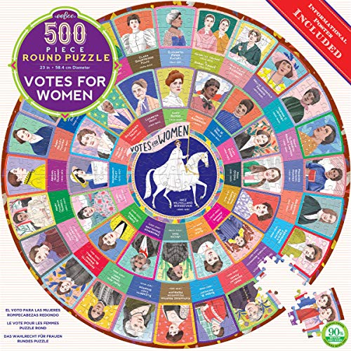 eeBoo Votes for Women Round Jigsaw Puzzle for Adults, 500 Pieces