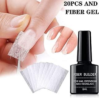Magical Nail Extension Silk Fiberglass,Nail Care Fiberglass Silk Nails Wrap Stickers for Gel Extension Nail Art Tools