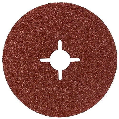 Bosch DIY Fiberschleifscheibe (für Winkelschleifer verschiedene Materialien, 5 Stück, Ø 125 mm, Körnung 100)