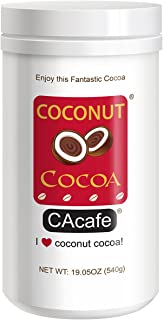 CAcafe Coconut Cocoa, All Natural Real Coconut and Cocoa, 19.05oz, 18 Servings