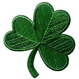 Trébol Irlandés Verde Oscuro Lucky Shamrock Emblema nacional Parche Bordado de...