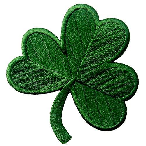 Trébol Irlandés Verde Oscuro Lucky Shamrock Emblema nacional Parche Bordado de Aplicación con Plancha
