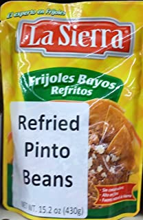 La Sierra Refried Pinto Beans Microwave Pouch 15.2 Oz (Pack of 4)