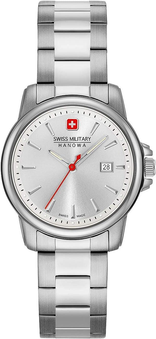 Swiss Military Hanowa Reloj Analógico para Unisex Adultos de Cuarzo con Correa en Acero Inoxidable 06-7230.7.04.001.30