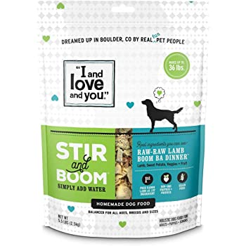 """I and love and you"" Stir & Boom Dehydrated Freeze Dried Raw Dog Food Topper (Variety of Flavors)"