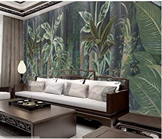 Custom Wall Mural Wallpaper European Style Retro Hand The Medieval Times Painted Rain Forest Pastoral Wall Painting Wallpaper 3D-350cmx280cm