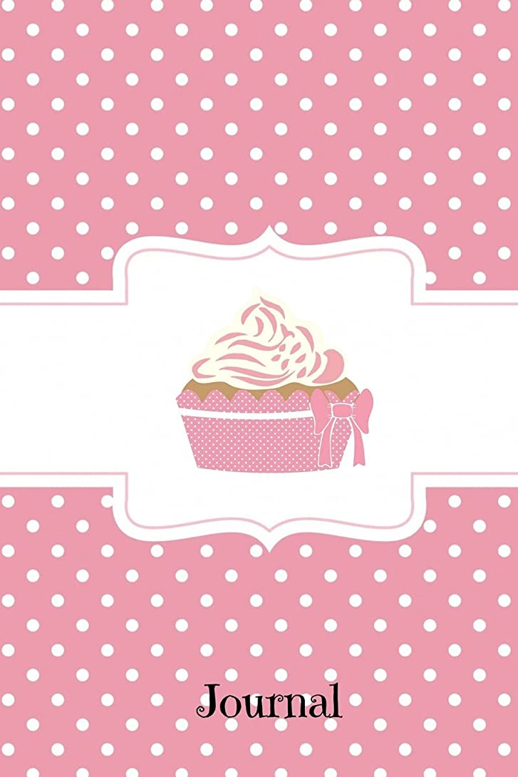 洞窟皮肉狂乱Journal: Pink Polka Dot Cupcake, Journal Notebook, 100 Lined Pages for Daily Writing  (6