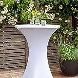 Vanage Stretch-Husse für Bistrotische für einen Tischdurchmesser von 70 - 80 cm, weiß - 6