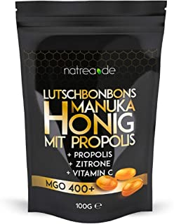Natrea Manuka Honig Bonbons 400 MGO 🍯 mit Zitronengeschmack und Propolis   100 g im..