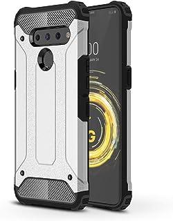DEVMO Phone Case Compatible with LG V50 ThinQ 5G Hard Plastic Shell Case/Shockproof Hard Bumper/Protective Cover Silver LM-V500/LM-V500N/LM-V500EM/LM-V500XM/LM-V450PM