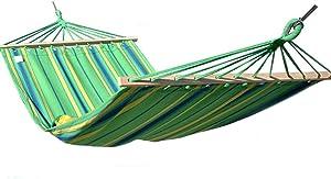 SUP-MANg Hamaca Acampar Hamaca al Aire Libre Palo Lona Transpirable Ocio portátil Hamaca Individual Hamaca de jardín Azul Hamaca de jardín 200x100 (78.7x39.4in) Verde