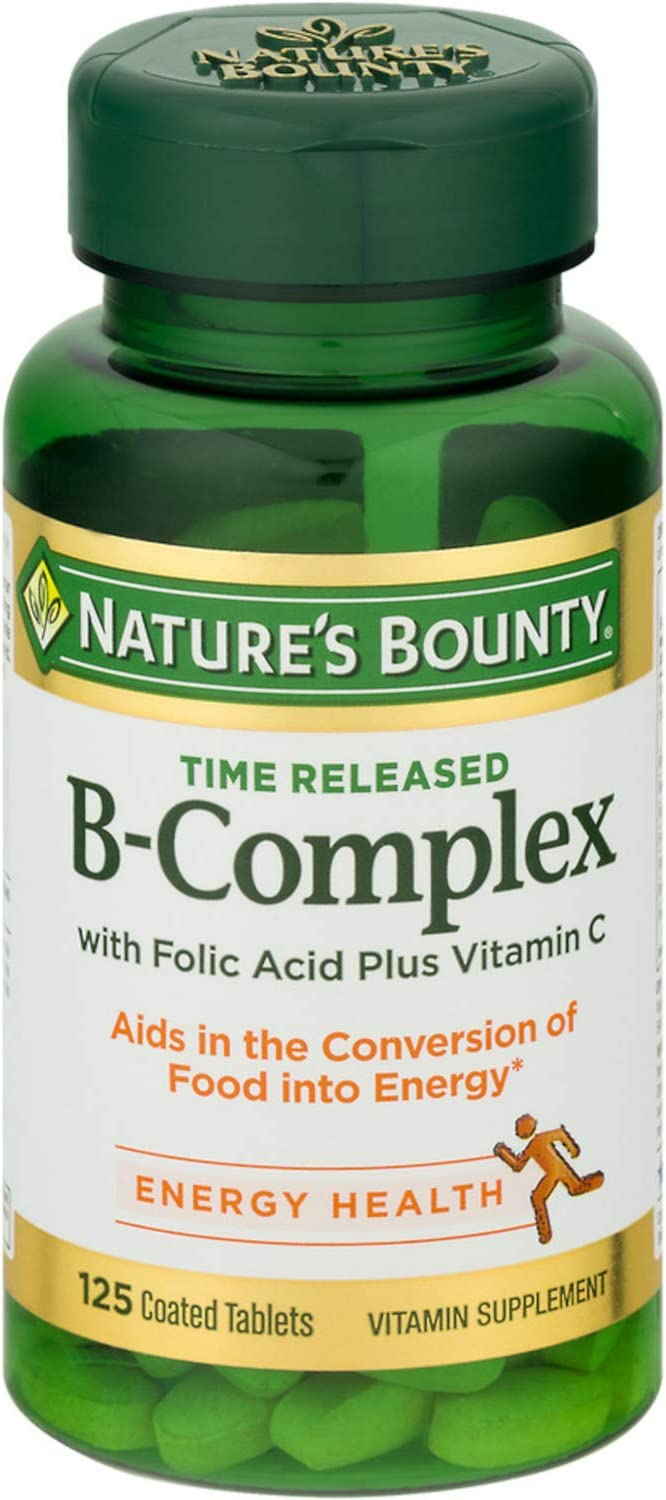 Nature's Bounty B-Complex with security Folic C Now on sale Acid Tablet plus Vitamin
