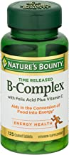 Nature's Bounty B-Complex With Folic Acid Plus Vitamin C Tablets 125 Tablets (Pack of 2)