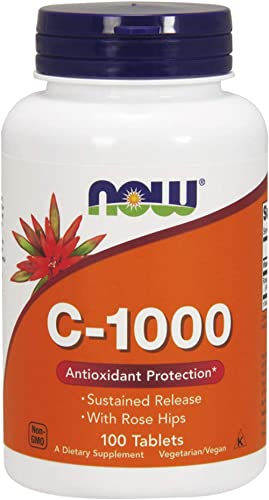 Now Foods Vitamin C-1000 Sustained Release with Rose hip, 100 Tablets