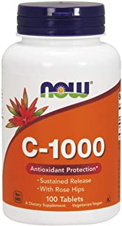 Now Vitamin C-1000 With Rose Hips Tablets - 100 Tablets