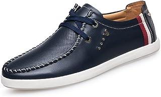[QIFENGDIANZI] 靴 メンズ ドライビングシューズ カジュアルシューズ ローファー スリッポン モカシン デッキシューズ ビジネスシューズ お洒落 身長アップ 軽量 通気性 アウトドア ローカット 通勤 通学 ブラウン ブルー