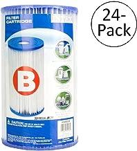 Intex Pool Easy Set Type B Replacement Filter Pump Cartridge (24 Pack) | 29005E