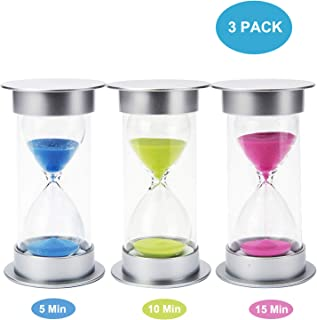 Clumsy Bird Sand Timer Set 3 Pack Hourglass 5/10 / 15 Minutes Timer for Kids, Kitchen, Games Timer, Durable Double Protective Glass