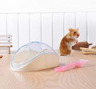 Goolsky Hamster Bathroom Potty Sand Toilet Bathtub with Shovel for Hamster Mouse and Other Small Pets