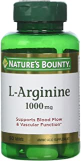 Nature's Bounty L-Arginine 1000 mg, 50 Tablets (Pack of 3)