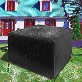 Cubierta Protectora a Prueba de Agua, Tela Oxford de Alta Resistencia Cubierta Impermeable para Parrilla de Barbacoa al Aire Libre Cubiertas para Muebles de jardín 180x100x75cm Plateado
