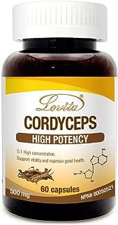 Lovita Cordyceps 2500mg, 5:1 Extract, 60 Capsules