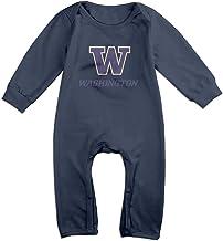 Momo Universidad de W Logo Washington infantil/bebé Pelele mono azul marino