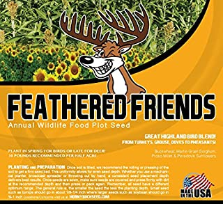 Feathered Friends -Horny Buck Wildlife Food Plot Seed (Deer, Turkeys, Grouse, Pheasant, Doves) 10 pounds