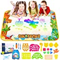 AOZZO Magic Doodle Mat Kids Large Dinosaur Water Drawing Coloring Mats