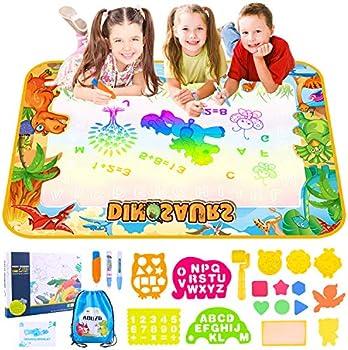 AOZZO Magic Doodle Mat Kids Large Dinosaur Water Drawing Coloring Mats