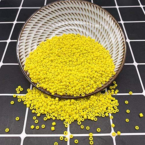 Nuevo vidrio de tamaño 2 3 4 mm con cuentas espaciadoras de semillas Joyas g Ajuste amarillo-amarillo, 4 mm 200 piezas