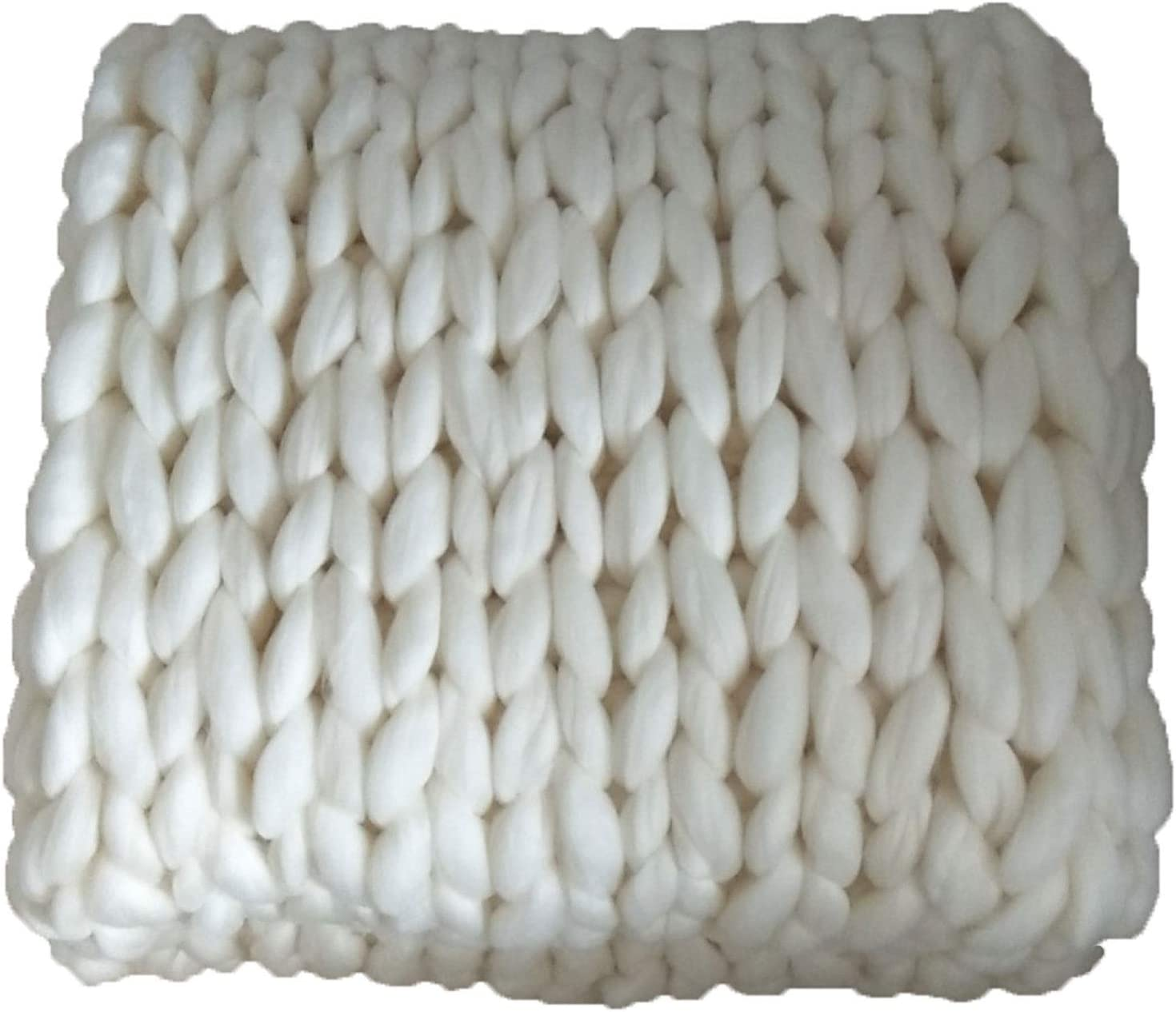 QWERTYUKJ Chunky Popular brand Knit Blanket Merino Throw Wool Yarn Luxury Latest item